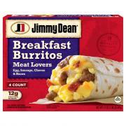 Jimmy Dean Breakfast Burritos Meat Lovers