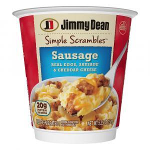 Jimmy Dean Sausage Cheddar Simple Scrambles