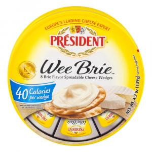 President Wee Brie Spreadable Cheese Wedges