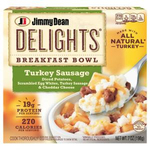 Jimmy Dean D-Lights Turkey Sausage Breakfast Bowl