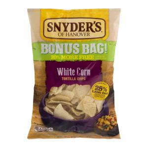 Snyder's Of Hanover White Corn Tortillas Bonus Bag