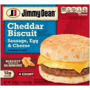 Jimmy Dean Sausage, Egg & Cheese Cheddar Biscuits