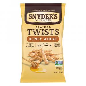 Snyder's of Hanover Braided Twists Honey Wheat