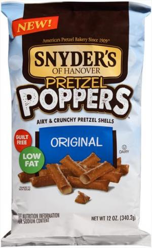 Snyder's Of Hanover Pretzel Poppers Original