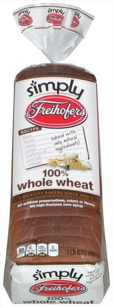 Freihofer's Simply 100% Whole Wheat Bread