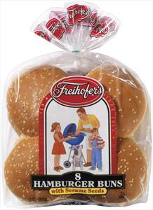 Freihofer's Seeded Hamburger Buns