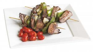 Sweet Bourbon Beef Kabob W/vegetables