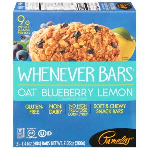 Pamela's Whenever Bars Oat/Blueberry/Lemon