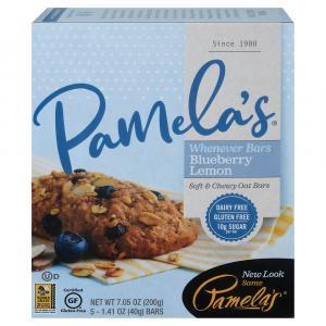 Pamela's Whenever Bars Oat Blueberry emon