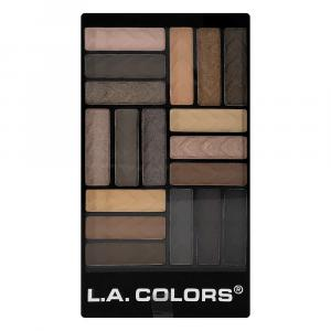 L.A. Colors Downtown Brown 18 Color Eyeshadow Glam Palette