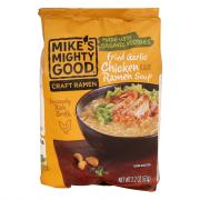 Mike's Mighty Good Fried Garlic Chicken Ramen Noodle Soup