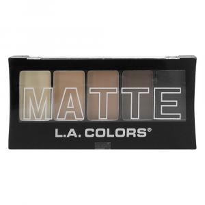 L.A. Colors Matte Brown Tweed Eyeshadow Palette