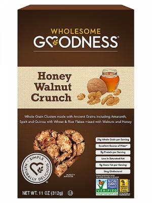 Wholesome Goodness Honey Walnut Crunch Cereal
