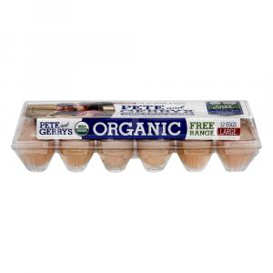 "Pete & Gerry's Organic Large Brown Omega 3 ""grade A"" Eggs"