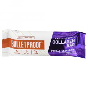 Bulletproof Chocolate Dipped Collagen Bar Double Chocolate