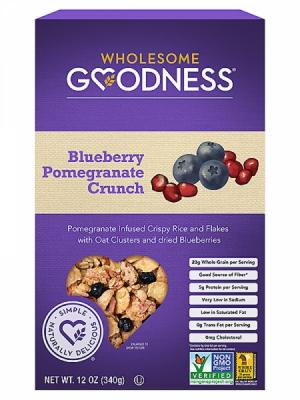 Wholesome Goodness Blueberry Pomegranate Crunch Cereal