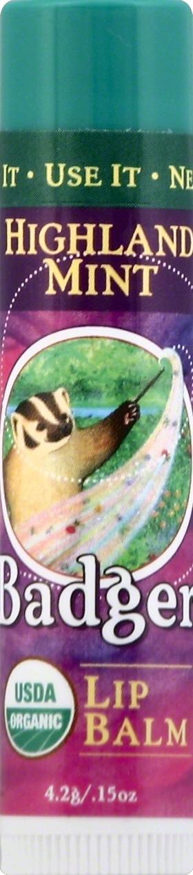 Badger Organic Highland Mint Lip Balm Stick