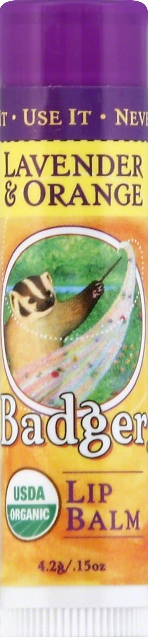 Badger Organic Lavender & Orange Lip Balm Stick