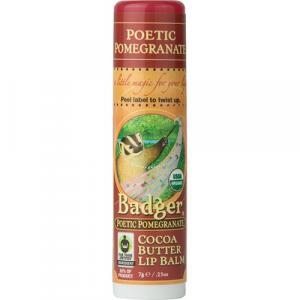 Badger Pomegranate Cocoa Butter Lip Balm
