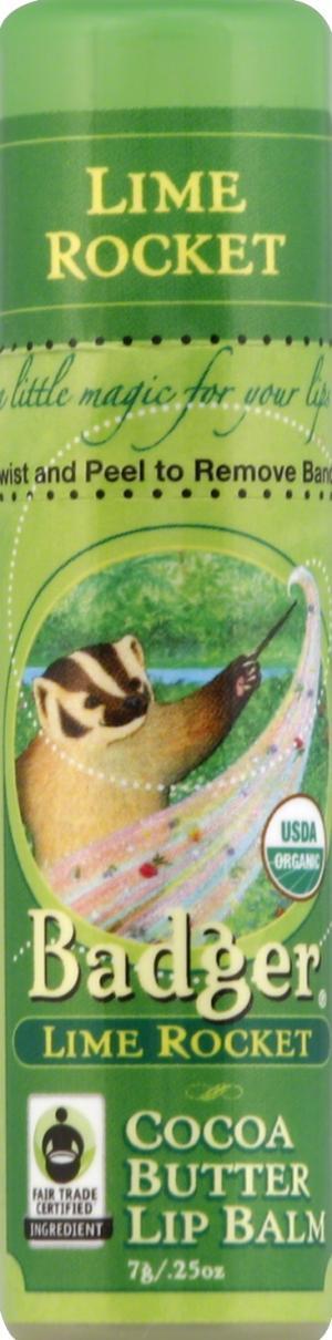 Badger Cocoa Butter Lime Rocket Lip Balm Stick
