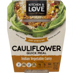 Kitchen & Love Cauliflower Quick Meal Indian Vegetable Curry
