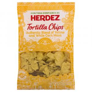 Herdez Yellow and White Corn Masa Tortilla Chips
