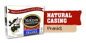 McKenzie Natural Casing Franks