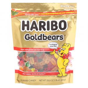 Haribo Gold Bears Gummi Candy in Resealable Bag