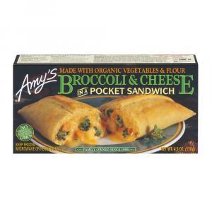 Amy's Kitchen Broccoli & Cheese Pocket Sandwich