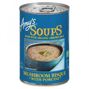 Amy's Mushroom Bisque with Porcini Soup