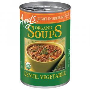 Amy's Organic Light in Sodium Lentil Vegetable Soup