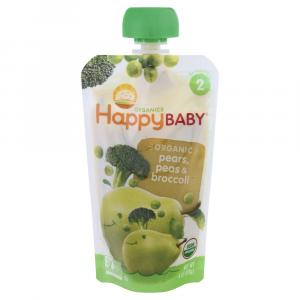 Happy Baby Stage 2 Baby Food Broccoli, Peas & Pears