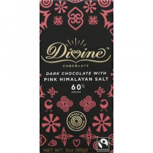 Divine Dark Chocolate with Pink Himalayan Salt Bar