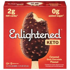 Enlightened Keto Collection Caramel Dark Chocolate Peanut