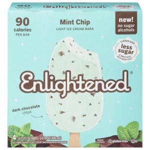 Enlightened Mint Chip Swirl Low Fat Ice Cream Bars