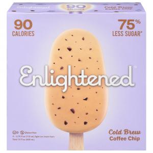 Enlightened Cold Brew Coffee Chip Low Fat Ice Cream Bars