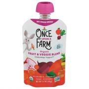 Once Upon A Farm Organic Oh My Fruit & Veggie Blend