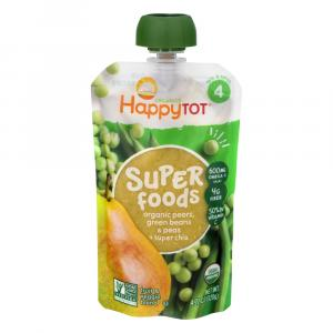 Happy Tot Stage 4 Organic Superfood Green Bean, Pear & Peas