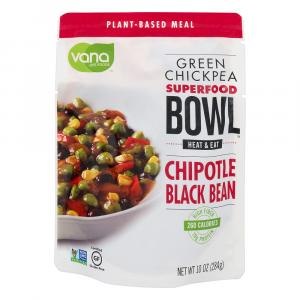 Vana Life Foods Green Chickpeas Chipotle Black Beans