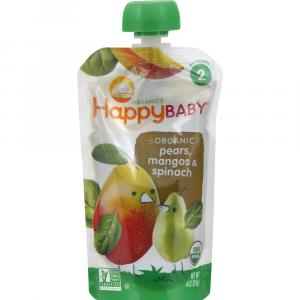 Happy Baby Stage 2 Baby Food Spinach, Mango & Pear