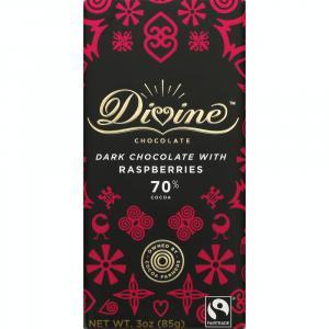 Divine Dark Chocolate with Raspberries Bar
