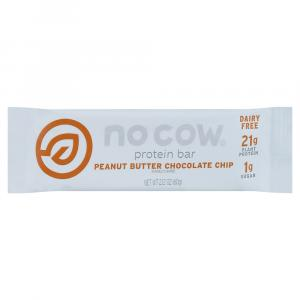 No Cow Peanut Butter Chocolate Chip Protein Bar