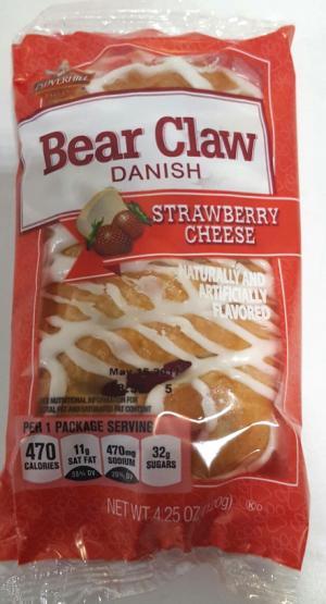 Cloverhill Bear Claw Strawberry Cheese