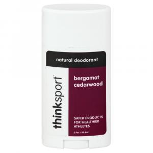 Thinksport Bergamot Cedarwood Natural Deodorant