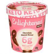 Enlightened Keto Collection Chocolate Glazed Donut Ice Cream