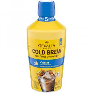 Gevalia Cold Brew Vanilla Iced Coffee Concentrate