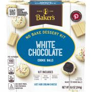Baker's White Chocolate Cookie Ball