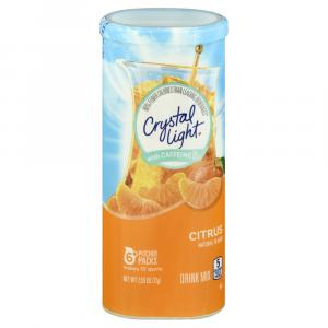 Crystal Light w/ Caffeine Pitcher Packets Citrus