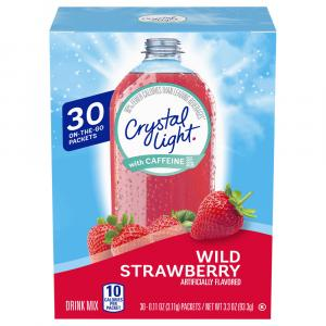 Crystal Light w/ Caffeine On the Go Packets Wild Strawberry