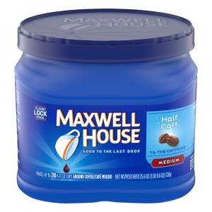 Maxwell House Half the Caffeine Medium Can
